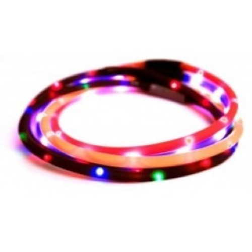 An excellent way of keeping your dog illuminated on those dark winter nights.Walking Mate Flashing Led Bands are USB rechargeable and can be used many times.Available in one large size, 70cm, which can be cut to fit! Box Contains Walking Mate Flashing Led Band  plus one USB Cable