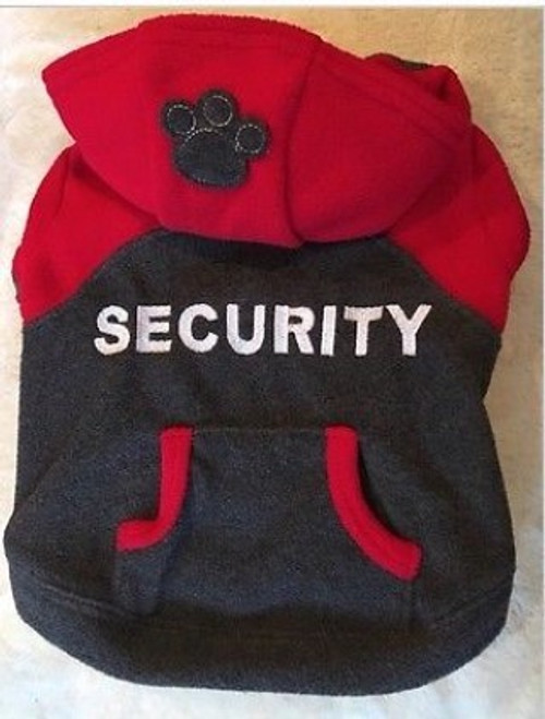 Designer luxury for your fur baby with this cute security fleece hoody by Pet Londin