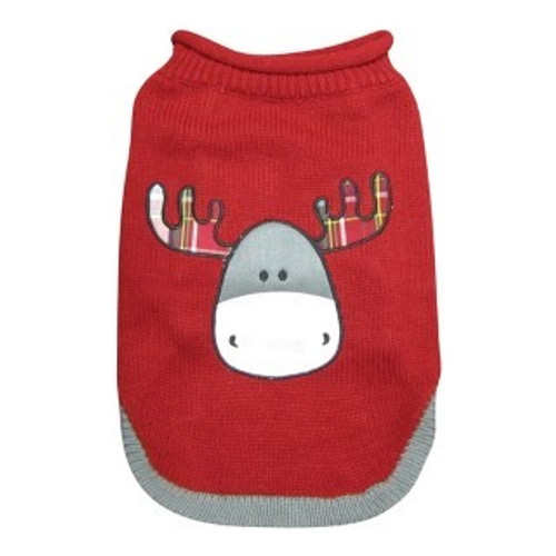 Dogit Festive Dog Sweater - Moose Design is a beautiful festive knitted jumper featuring a cute moose design that's sure to make your dog stand out from the crowd  Features a dog leash hole for convenience when its time for walkies.