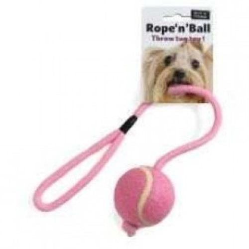 We all know how much dogs love to play with tug toys, so why not treat your dog to this quality tennis ball with rope. Made by Ruff 'N' Tumble, this toy provides strong durability for safe tug and pull games.  Tennis ball attached to the end of a rope Soft but strong and durable Perfect for tug games and throwing Available in  a variety of colours