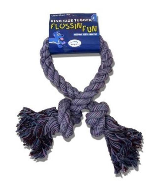 Happy Pet have designed the 'King Size' rope range for big dogs that love to play!  The XL Tug Rope is perfect for larger breeds and will withstand games of tug on a huge scale! Made with 100% cotton rope and manufactured to endure tough play