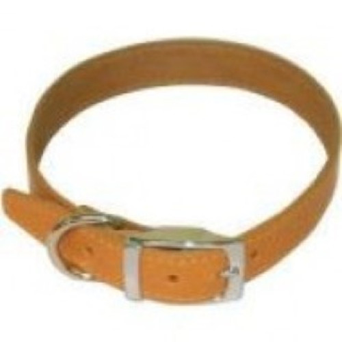 BBD Plain leather dog collar -Tan