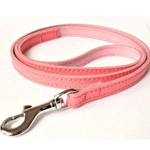 Traditional Style Plain Leather Dog Leads. Genuine leather leads made in various colours which match perfectly the BBD  leather collars. These leads have detail stitching along the edges and have silver hardware. They come in a variety of widths depending on the collar size.