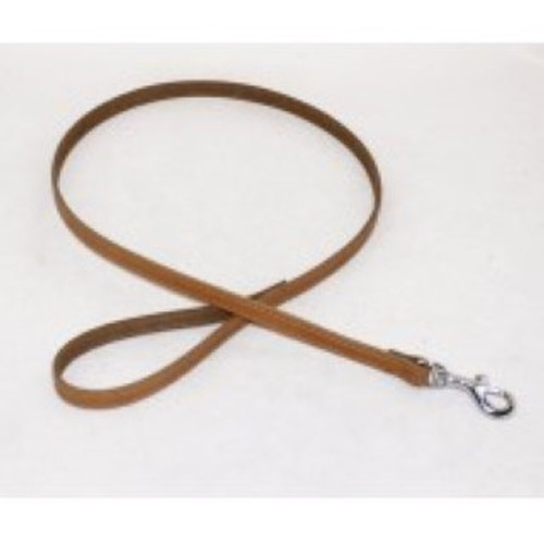 BBD PLAIN LEATHER DOG LEAD TAN
