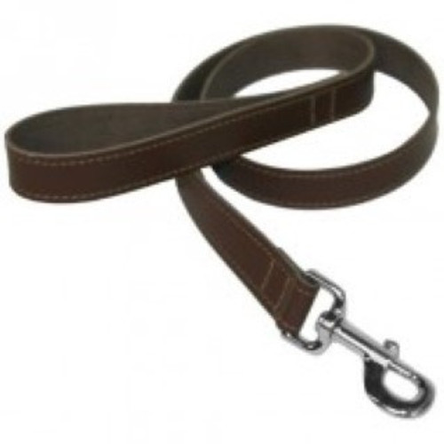 BBD Plain Leather Dog Lead -Brown