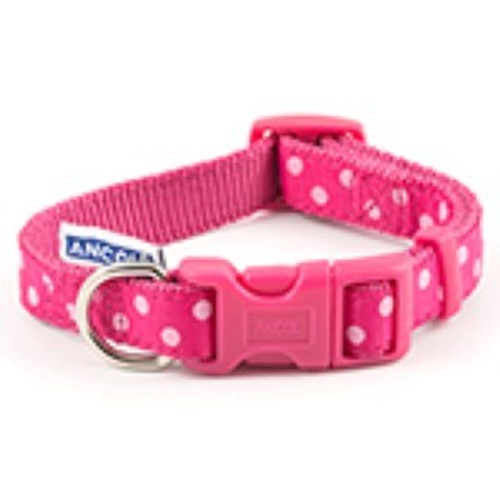 Ancol Vintage Polka Collar Pink 30-50cm