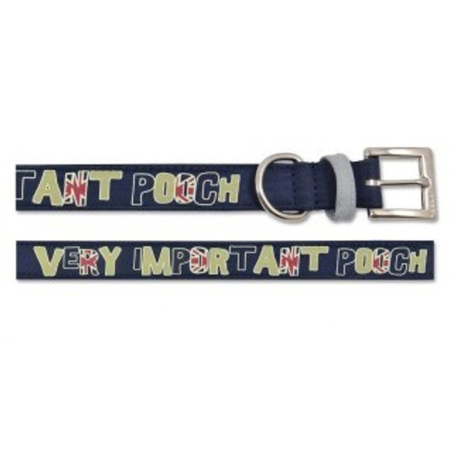 Ancol Very Important Pooch Dog Collar Navy