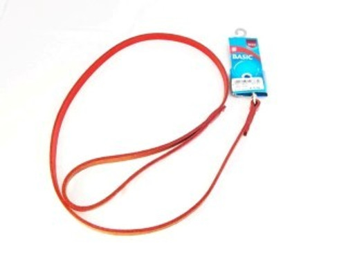 Trixie Red leather dog lead 1.0m 10mm