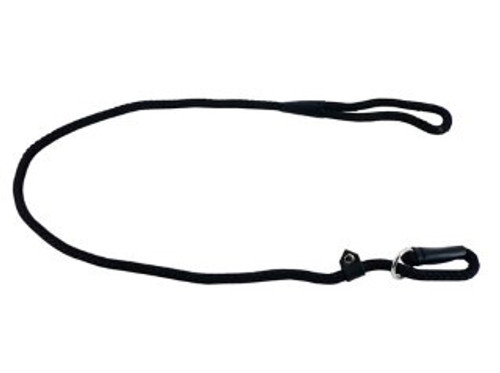 Ancol Heritage Nylon Rope Slip Lead Black 1.2m X10mm