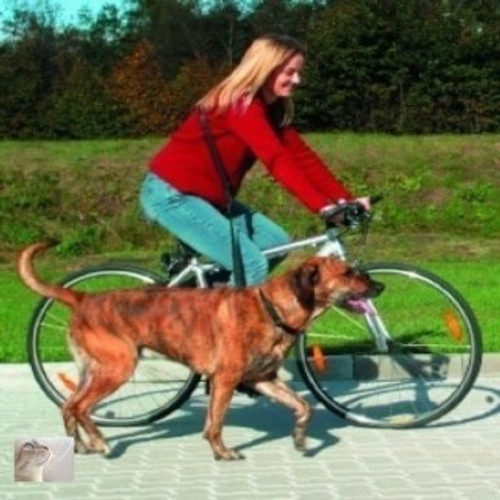 A great lead for anyone who wants to exercise their dog whilst cycling, Part of the many hard to find dog and cat items sold here at Elliotspetwarehouse