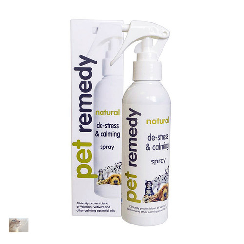 200ml calming spray for dogs cats and all mammals Value for money pack size. Bottle can be used to refill the 15ml carry size bottles.  Helps calm pets without sedating. Immediate action. All natural formula