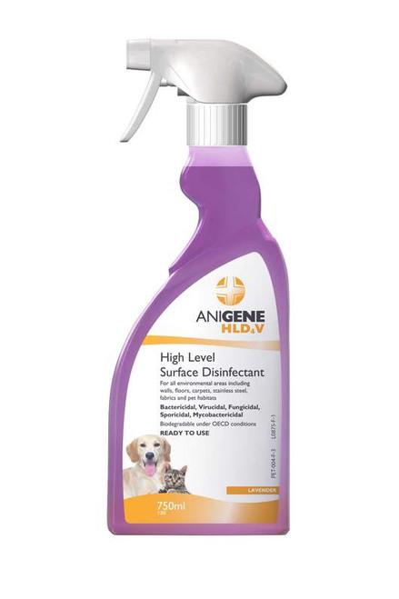 Anigene HLD4V high level disinfectant trigger spray  Fragranced 750ml