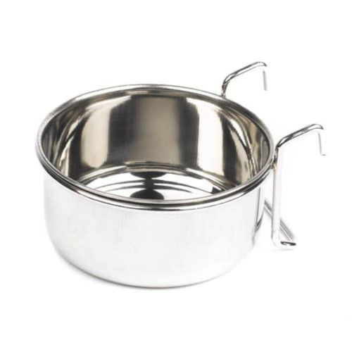 148mm stainless steel coop cup with holder. Ideal for general aviary use. Another great item in the special purchase zone here at elliotspetwarehouse