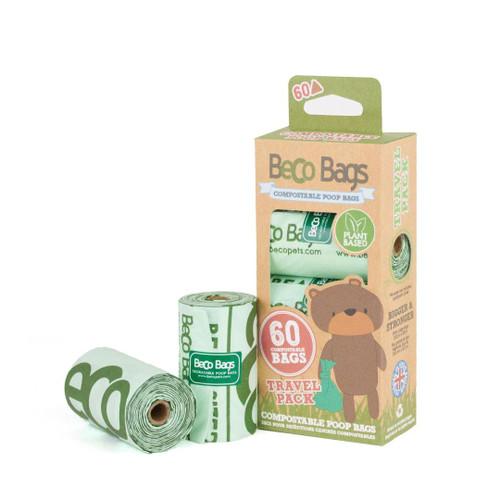 Big strong compostable poop bags. Pack of 60 bags.  Eco friendly poop bags