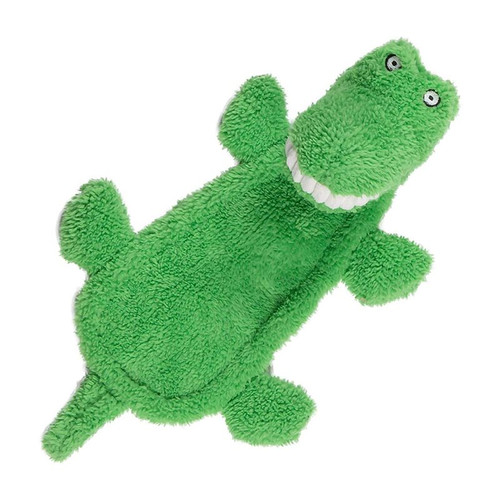 Squeaky head crinkle body Hours of doggy fun from this great croc toy. Machine washable