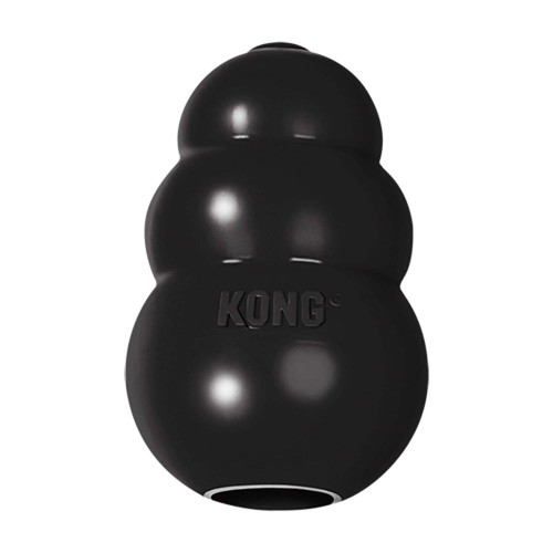https://www.elliotspetwarehouse.co.uk/kong-dog-toys/ Mentally stimulating toy; offering enrichment by helping satisfy dogs' instinctual needs KONG black rubber formula is specifically designed for power chewers Unpredictable bounce for games of fetch Great for stuffing with KONG Easy Treat; Snacks or Ziggies Recommended worldwide by Veterinarians; Trainers; and dog enthusiasts Natural rubber Made in the USA. Globally Sourced Materials.