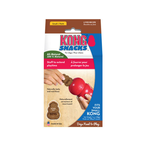 Irresistible and delicious liver flavor great for any treating moment Great for stuffing into KONG Classic and rubber toys for extended play Ideal for any treating or training occasion All-Natural and Made in the USA