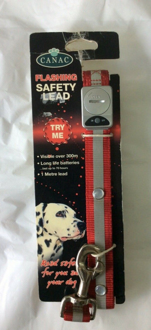 Canan Flashing Dog Lead. Sale Clearance item    Dont miss out Ideal for winter dog walks
