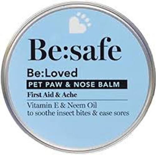 FIRST AID & ACHES - Sometimes, action-packed days outdoors lead to minor scrapes and injuries – for pets and humans alike! Formulated with a natural blend of essential oils and moisturising Vitamin E, our First Aid balm is designed to soothe minor injuries, like scratches and grazes, and alleviate the discomfort from stings and bites. CARE FOR PAWS, NOSE & SKIN - Safe to use on your pet's paws, nose and skin if they've been in the wars, this 3-in-1 balm comes in a handy 60g pot so you can take it with you on walks and those action-packed days out. EXTENSIVELY TESTED ON HUMANS - If it's not good enough for us, it's not good enough for our pets. FREE FROM - Be:Loved pet paw & nose balms contain no parabens or MIT and the packaging is plastic free. INGREDIENTS - Beeswax, shea butter, Vitamin E, neem oil, grapeseed oil and lemongrass. Handmade in Great Britain by the company that brings you Dog Rocks.