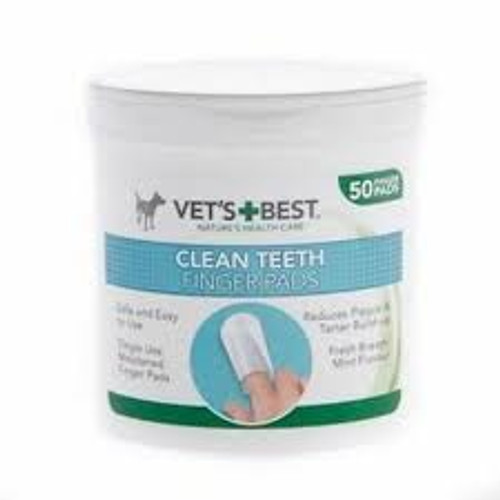 Vet's Best dog teeth cleaning finger wipes are an alternative to dog toothpaste and provide an effective way to clean your dog's teeth and maintain good oral hygiene. Regular use can help control plaque build-up, reduce tarter and promote fresh breath.