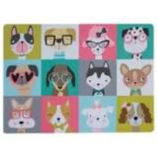 ake mealtimes a bright and fun occasion with the Mason Cash Pawtrait Dog placemat. With colourful, unique portraits of cute dogs, the placemat is designed to protect your floor in the feeding area. Easy to clean, wipe with a damp cloth.