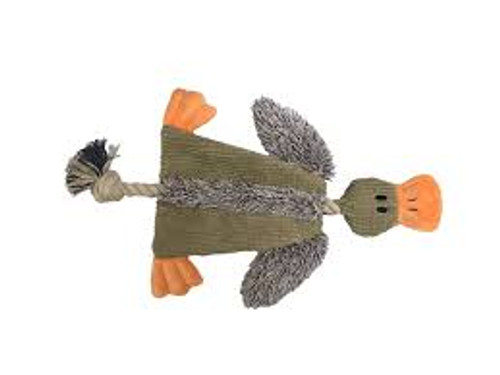 SUPER CUTE DUCK WITH ROPE FOR ADDED STRENGTH & CRINKLE SOUND THOUGH BODY FOR ADDED INTEREST