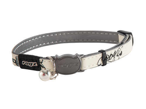 Glow At midnight Reflective Safeloc Breakaway Buckle Removable Colour-Coded Bell Scratchproof Webbing Fully Adjustable Collar for Neck Sizes eight-12″