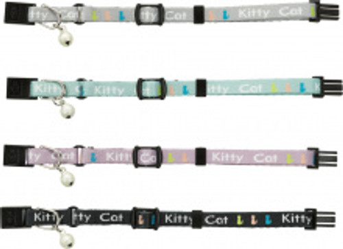 Trixie Junior Kitten Collar with cute kitty cat decal.  Easy snap release Choice of colours