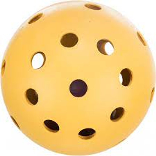 Ball with holes and bell Ideal for blind dogs and visual impaired dogs.  Made from natural rubber  7 cm diameter