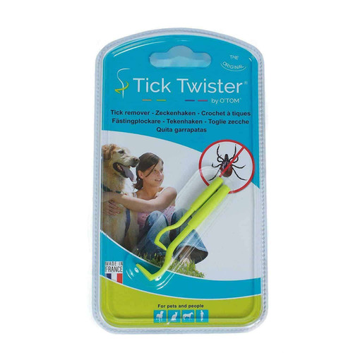 Tick Twister by O'Tom provides you with a simple, safe and painless way to remove ticks. The instrument is specially designed to remove ticks from the skin of animals and people. It is easy to use, allowing the user to hold the tick without compressing it and to remove the tick by twisting motion rather than pulling. This technique is safe and will completely remove ticks.  Another great health care product sold at www.elliotspetwarehouse.co.uk