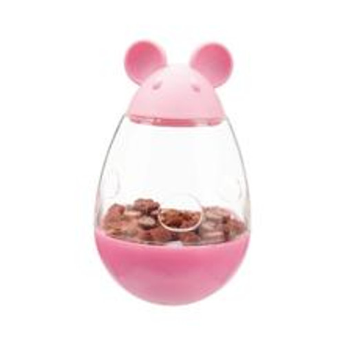 A great cat treat dispenser for engaging cats and kittens. Roly poly design makes the mouse tilt and dispense cat treats