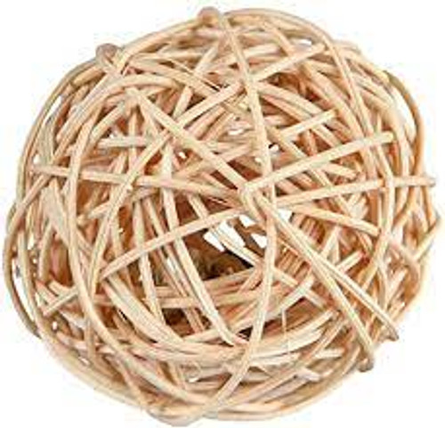 Trixie rattan play ball with bell A great play ball for any cat or kitten 4cm ball ideal for all cat playtimes