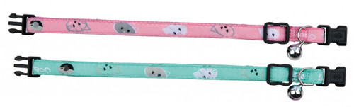 Trixie Mimi Cat Collar Fully adjustable easy snap release should the cat become trapped. Available in a choice of two colours