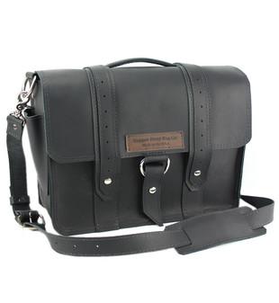 "14"" Medium Newtown  Voyager Laptop Bag in Black Excel Leather"