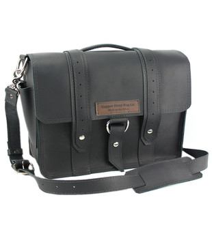 "15"" Large Belmar  Voyager Briefcase in Black Excel Leather"