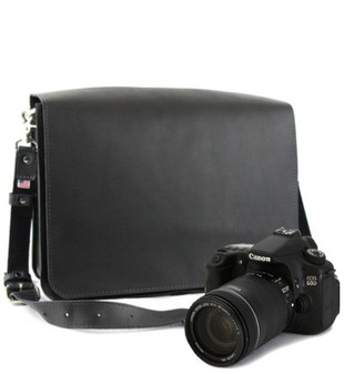"14"" Medium Mission Newport Camera Bag in Black Excel Leather"
