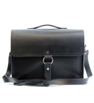 """14"""" Medium Newtown Midtown Laptop Bag in Black Excel Leather"""