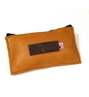 Small Sunrise Leather Utility Pouch Made in the U.S.A.