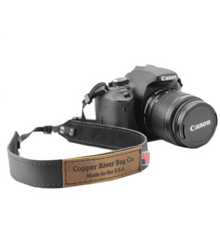 Leather Camera Strap - Made with Black Leather