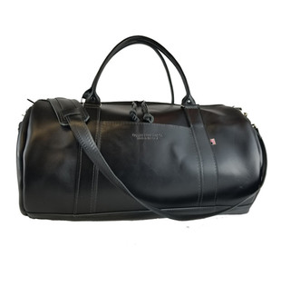 "20"" Leather Copper Duffle Bag in Black Napa Excel Leather"
