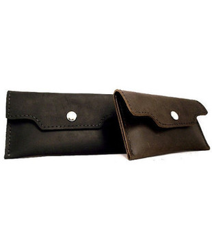 Small Leather Snap Pouch Made in the U.S.A.