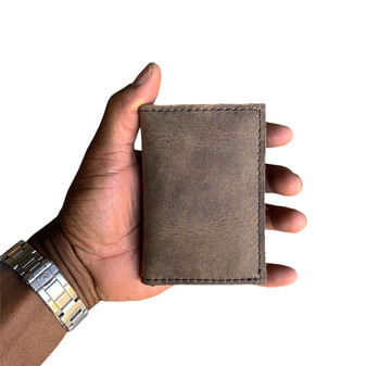 Thick Roughman NewYorker Wallet - Distressed Tan Full Grain Leather Made in the U.S.A. - NY-WAL-DIS