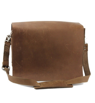 "10"" Small Safari Mission iPad (Tablet) Bag in Brown Oil Tanned Leather"