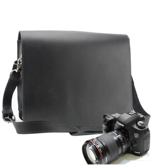 "10"" Small Mission Napa Camera Bag in Black Napa Excel Leather"