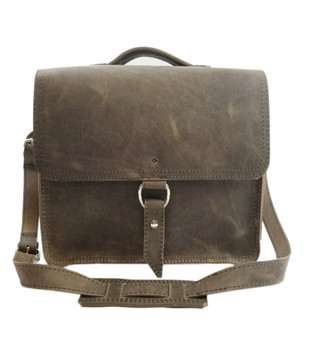 "10""Small Safari Midtown iPad (Tablet) Bag in Distressed Oil Tanned Leather"