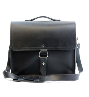 "10"" Small Safari Midtown iPad (Tablet) Bag in Black Napa Excel Leather"
