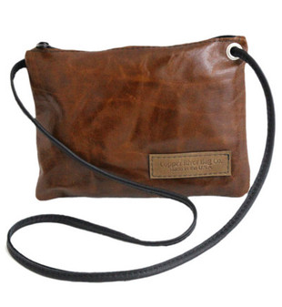 Monterey Clutch Purse in Italian Leather - Caramel - Made in the U.S.A. - MONT-CLUT-PURS-IC