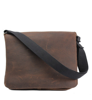 "The Original 14"" Chocolate Grizzly Messenger Bag"