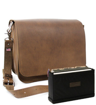 "Large 15""  Rockport Mission Briefcase in Brown Oil Tanned Leather"