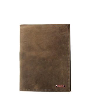 5 x 8 Notepad in Distressed Excel Leather Made in the U.S.A. - 5X8-DIS-EXL-PDFOL